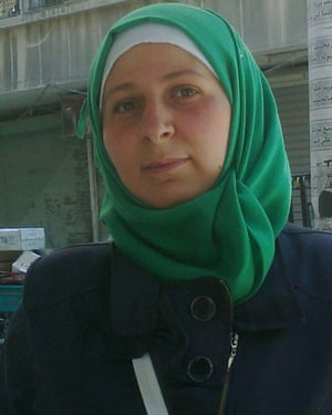 A portrait of Afraa Hashem in Aleppo.