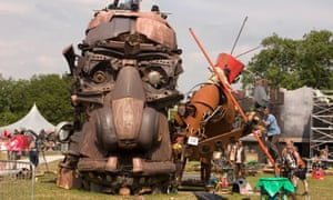 One of Mutoid Waste Company's creations takes shape