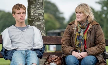 Calmly furious … Finn Bennett and Sarah Lancashire) in Kiri.