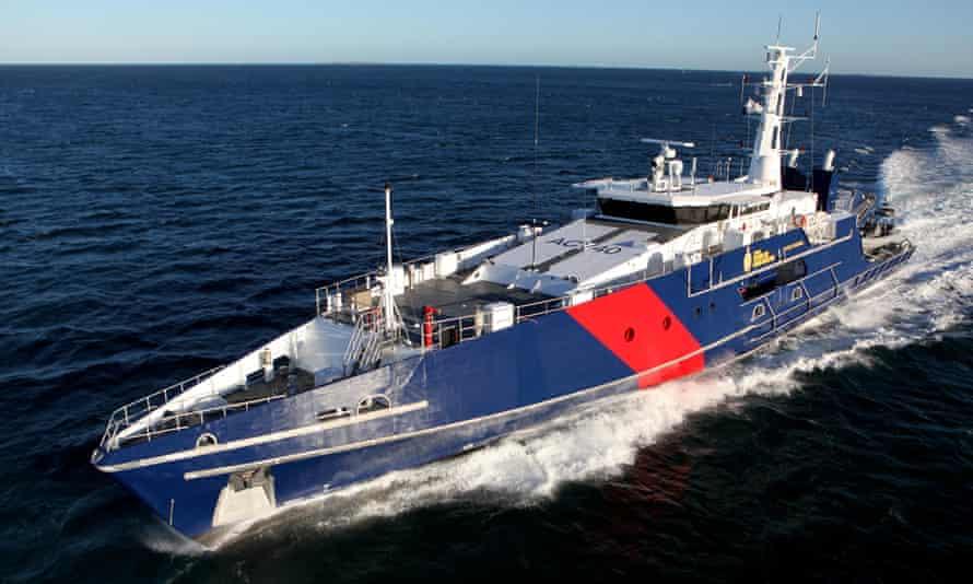An Australian customs vessel, the Cape St George.