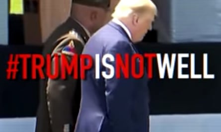 Screen shot from a campaign ad produced by the anti-Trump Republican group, the Lincoln Project.