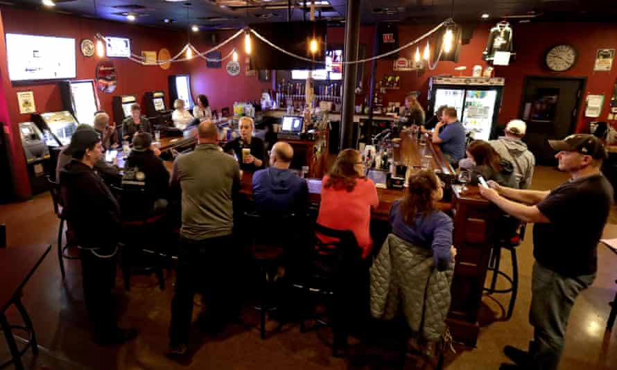 Dairyland Brew Pub opens following the Wisconsin supreme court's decision to strike down Tony Evers' safer-at-home order amid the coronavirus pandemic.