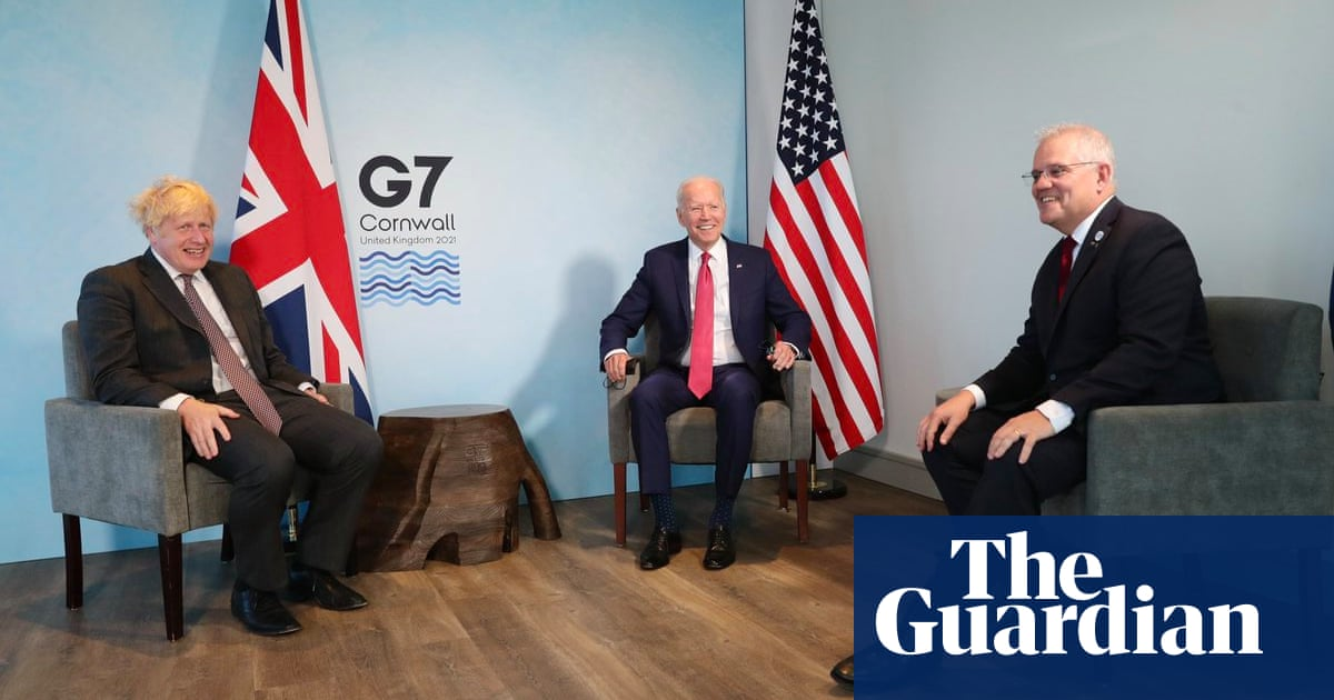 Scott Morrison and Joe Biden focus on Indo-Pacific in first face-to-face meeting