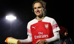 Vivianne Miedema has scored 21 times for the WSL leaders Arsenal this season.