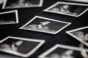 Pictures of Che Guevara are on display