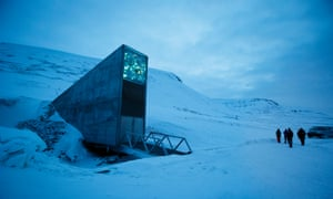 The entrance to the Seed Vault, Svalbard Island, Norway.