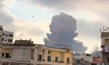 Beirut explosion: footage shows massive blast – video