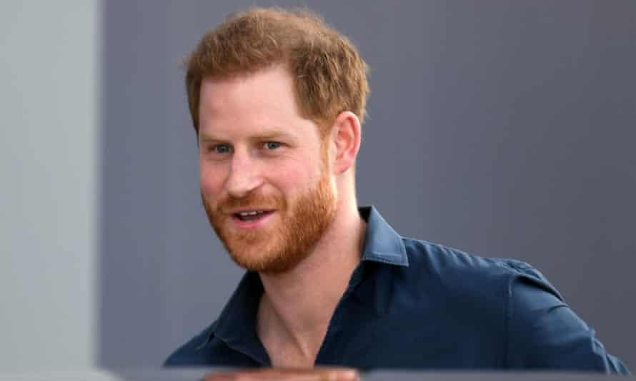 Prince Harry pictured at the Silverstone motor racing circuit in March, prior to the coronavirus lockdown. He was officially opening the new Silverstone Experience museum.
