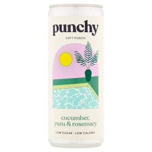 Punchy punch: Cucumber, yuzu and rosemary soft punch