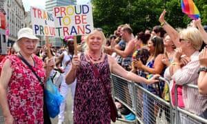Gay Pride transgender marchers