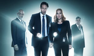 The truth is (back) out there ... The X-Files with Mitch Pileggi, David Duchovny, Gillian Anderson and William B Davis.