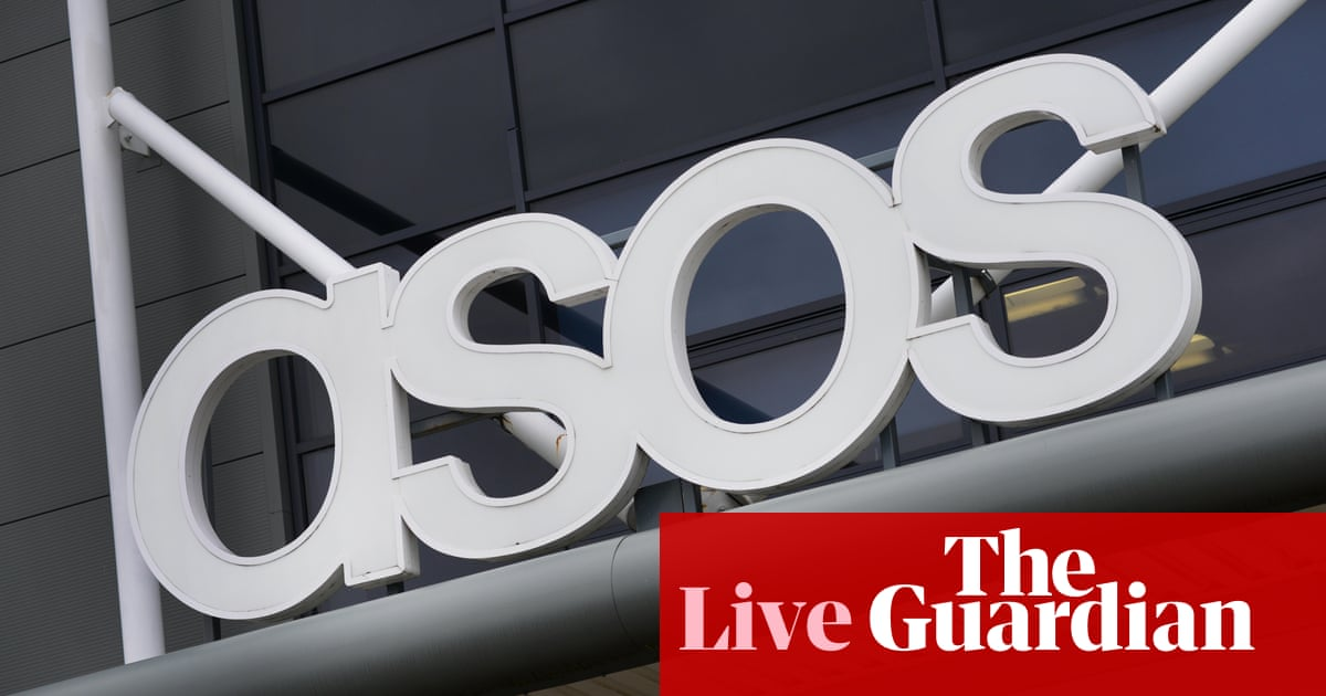 3293f7b129 Asos shares plunge by 40% as profit warning rocks retail sector - as it  happened | Business | The Guardian