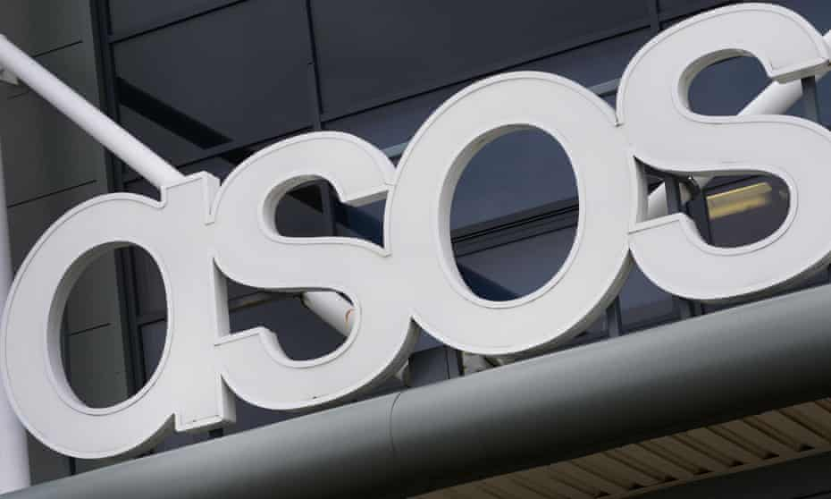 An Asos sign at the retailer's warehouse in Grimethorpe, South Yorkshire.