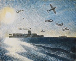 HMS Glorious In The Arctic,by Eric Ravilious