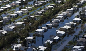 Flooded homes in Florida, six days after Hurricane Irma.