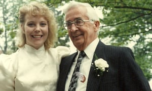 Pauline Dakin and Stan Sears on her wedding day. Stan gave Pauline away.