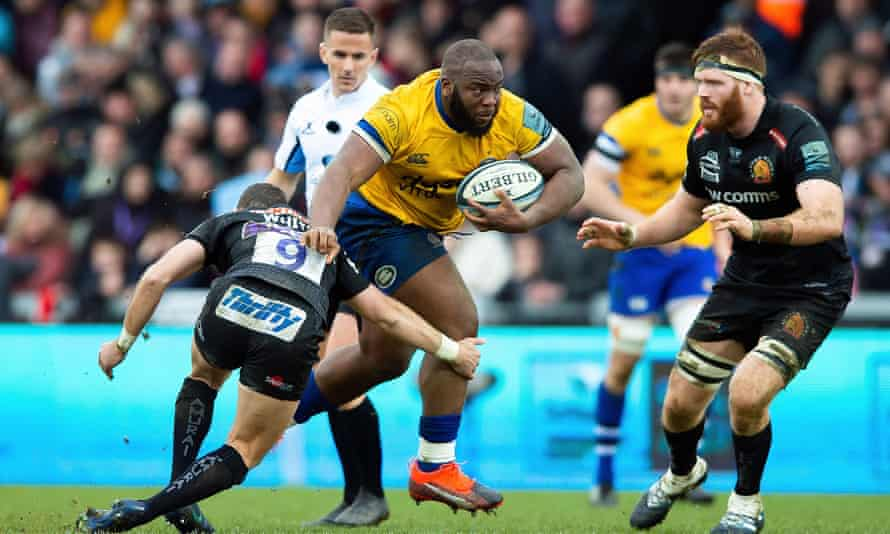Bath's Beno Obano in action against Exeter
