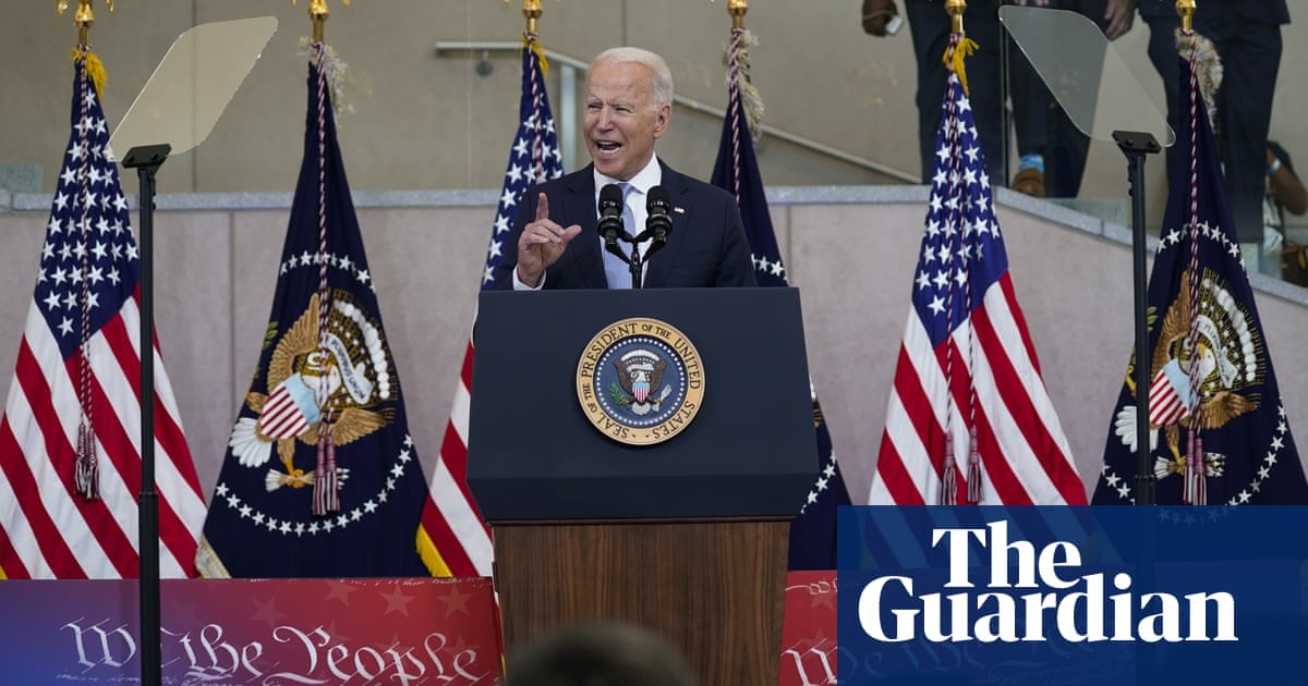US democracy faces a momentous threat says Joe Biden – but is he up for the fight?