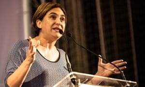 Ada Colau, Barcelona mayor and former housing activist.