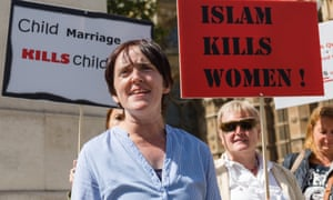 Anne Marie Waters attends an 'Islam kills women' rally and protest in Westminster last year.