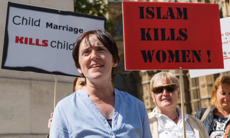 Ukip leadership candidate Anne Marie Waters at an anti-Islam protest in London last year