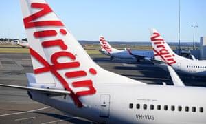 File photo of Virgin Australia aircraft at Sydney airport