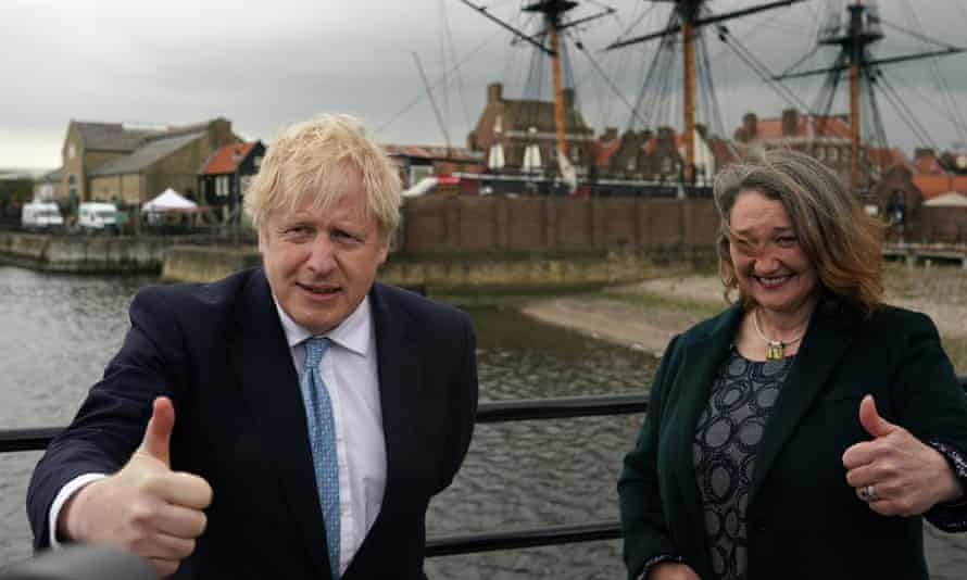 Boris Johnson visits Hartlepool after the Conservative party candidate, Jill Mortimer, won the byelection.