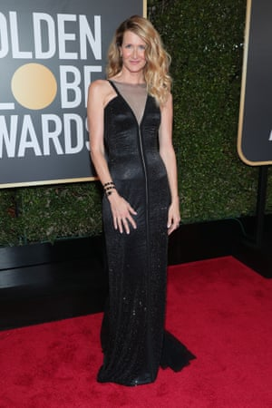 Actor Laura Dern arrives to the 75th Annual Golden Globe Awards