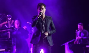 Jamie Cullum peforming at the York Barbican.