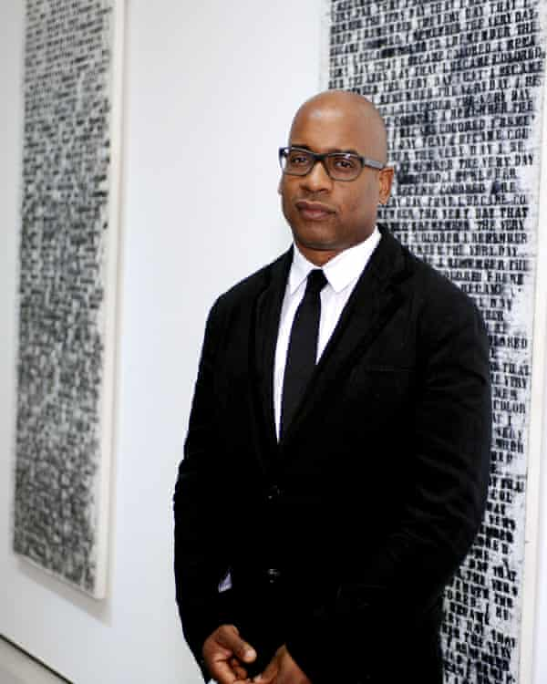 Glenn Ligon at an exhibition of his work.