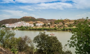 Alcoutim pictured from across the Guadiana river.