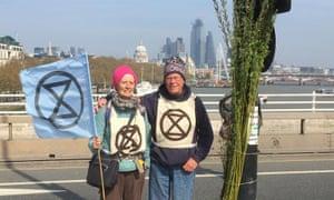 Robert Rivett retired GP Extinction Rebellion climate crisis demonstration London
