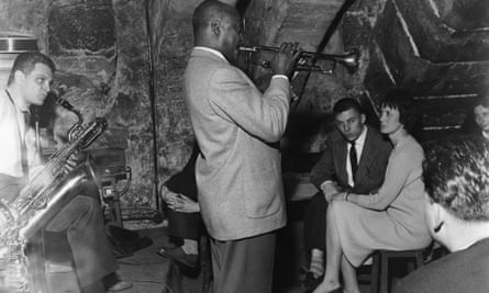 A jazz band in Paris in the 1950s.