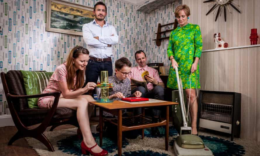The Ashby-Hawkins family go back in time with presenter Giles Coren.