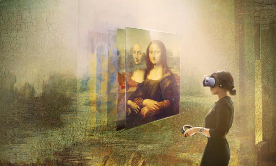 a virtual reality Mona Lisa at the Louvre.