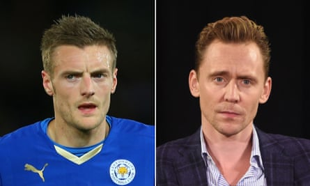 Well, he's got the hair … Jamie Vardy, record-breaking striker; and Tom Hiddleston