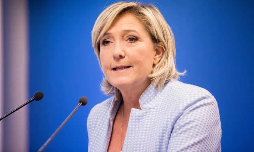 Marine Le Pen at a press conference to congratulate Donald Trump on his election victory.