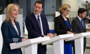 George Osborne and cabinet ministers EU