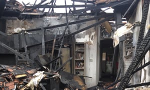 Matt Herbert's house in Melbourne after being engulfed by fire two days before Christmas 2018.