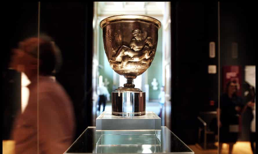The Warren Cup was a Roman drinking vessel and shows two scenes of men making love.