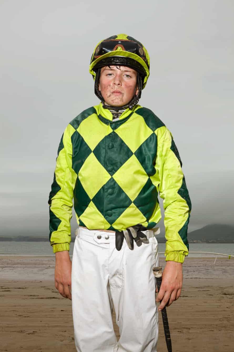 Young jockey Daniel King, 14