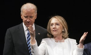 Hillary Rodham Clinton and Joe Biden