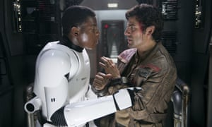 Love story ... Some fans have called for the bromance between Finn and Poe Dameron to be confirmed as a gay relationship.