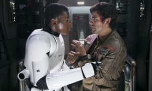 More diversity needed … John Boyega and Oscar Isaac in Star Wars: The Force Awakens.
