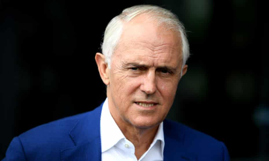 Former prime minister Malcolm Turnbull after delivering an address at the NSW Smart Energy Summit in which he mocked Coalition members pushing for coal-fired power stations.