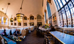 The Cooper Lounge on the mezzanine of the newly renovated Union Station in Downtown Denver, US.