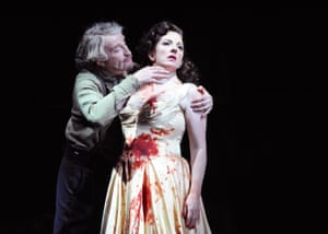 Clive Bayley and Michaela Martens in Duke Bluebeard's Castle, directed by Daniel Kramer at ENO in 2009.