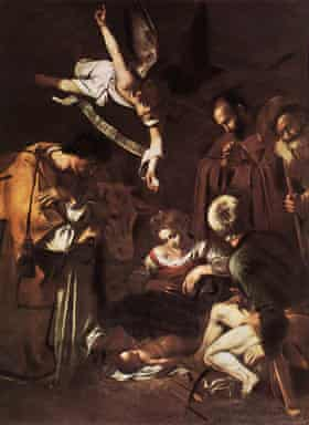 Nativity with St Francis and St Lawrence, 1609 by Caravaggio.