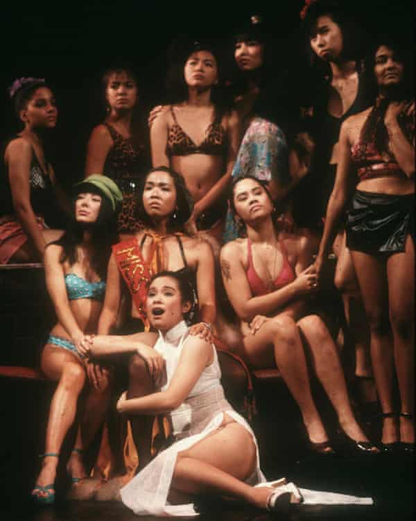 Lea Salonga as Kim, front, in Miss Saigon, 1989.