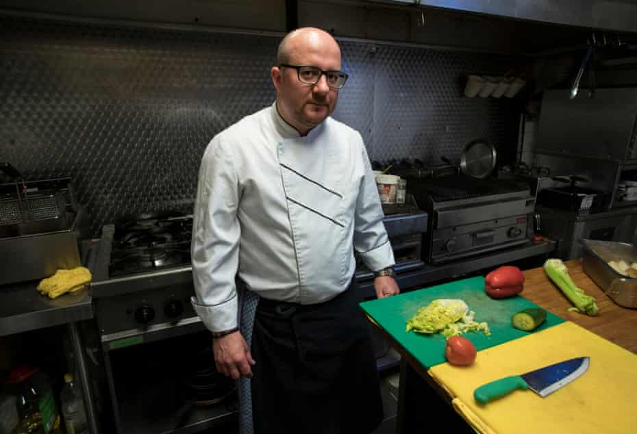 Dragoș Grinici, the chef at the Romanian restaurant Hoinar in Dollis Hill, north London